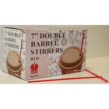 Red Unwrapped Double Barrel Stirrers