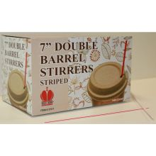 Red Striped Unwrapped Double Barrel Stirrer