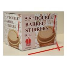 Red Unwrapped Double Barrel Stirrer