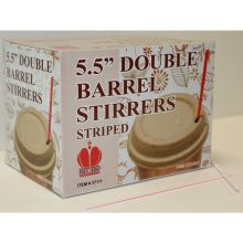 Red Striped Unwrapped Double Barrel Stirrers