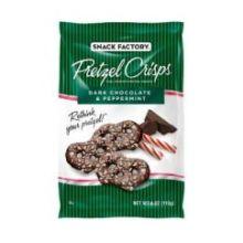 Dark Chocolate and Peppermint Pretzel Crisps