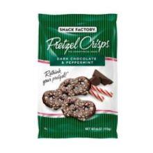 Dark Chocolate and Peppermint Shipper Pretzel Crisps