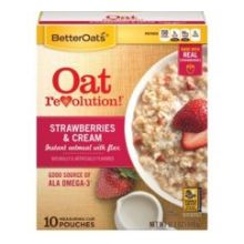 Strawberries and Cream Instant Oatmeal with Flax
