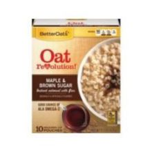 Maple and Brown Sugar Instant Oatmeal with Flax