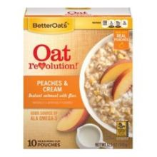 Peaches and Cream Instant Oatmeal with Flax