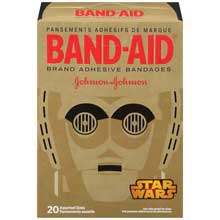 Johnson and Johnson Band-Aid Brand Star Wars Adhesive Bandages Assorted Sizes 20 ct Box