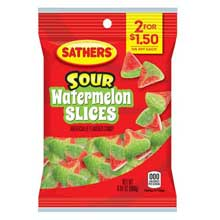 Sour Watermelon Slices Candy