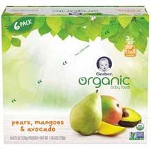 3rd Foods Organic Pear Mangoes Avocado Baby Food