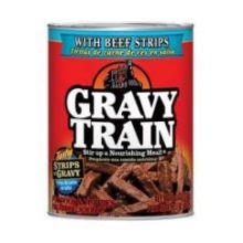 Strips In Gravy with Beef Strips Dog Food