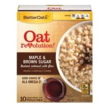 Thick and Hearty Maple and Brown Sugar Instant Oatmeal with Flax