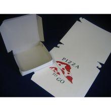 Lock Corner One Piece Heavy White Pizza Box