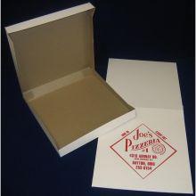4 Corner Automatic One Piece White Pizza Box