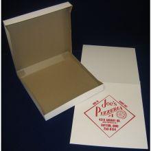 4 Corner Automatic One Piece White Pizza Box 10 inch