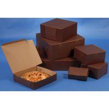Lock Corner One Piece Chocolate Bakery Box 8 x 5.5 x 3 inch