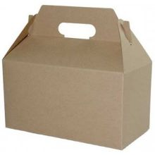 Kraft Gable Boxes with Auto Bottom 8.875 inch
