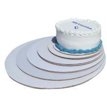 Mottled White Cake Circle 10 inch