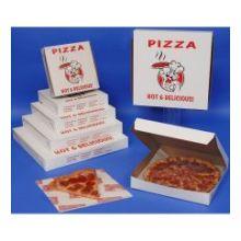 Chefs Classic Printed To Go Lock Corner One Piece White Pizza Box