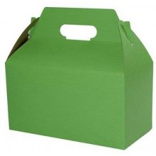 Apple Green Pinstripe Gable Boxes with Auto Bottom 8 inch