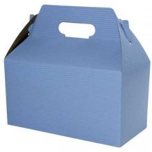 French Blue Pinstripe Gable Boxes with Auto Bottom 9.5 inch