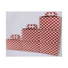 Recycled Red Print Checkerboard Stackable To Go Meal Box