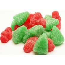 Bulk Red and Green Santas and Trees Jellies