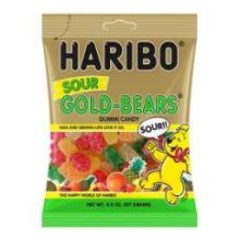 Gold Bears Sour Gummy Candy 4.5 Ounce
