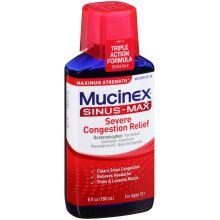 Sinus Max Maximum Strength Severe Congestion Relief Liquid