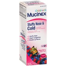 Childrens Mixed Berry Flavor Stuffy Nose and Cold Liquid