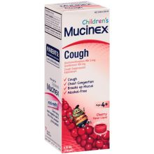 Childrens Cherry Flavored Cough Liquid