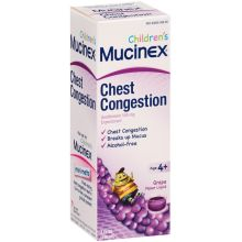 Childrens Grape Flavor Chest Congestion Expectorant Liquid