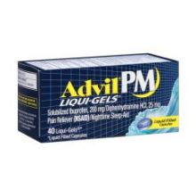 Pain Reliever and Nighttime Sleep Aid Liqui Gels Capsules