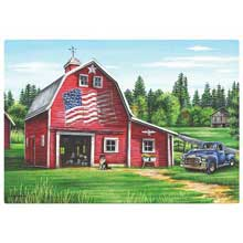 Patriotic Barn Paper Placemat