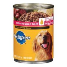 Meaty Ground Dinner with Chopped Beef Dog Food