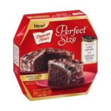 Perfect Size Chocolate Lovers Chocolate Cake and Frosting Mix