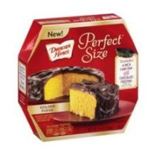 Perfect Size Golden Fudge Cake and Frosting Mix