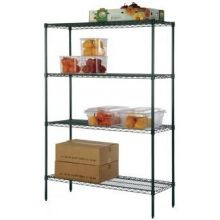 Green Epoxy Wire Shelves 42 inch