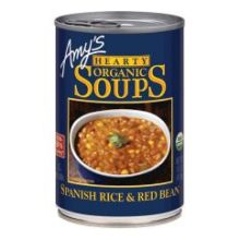 Organic Hearty Spanish Rice and Red Bean Soup