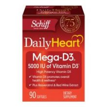 Daily Heart Mega D3 5000 IU Softgels