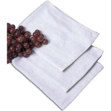 White Ribbed Terry Bar Mop Towel