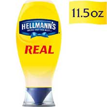 Hellmann Real Mayonnaise Made with 100 percent Cage Free Eggs Squeeze Bottle 11.5 oz