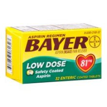 Low Dose Safety Coated Aspirin 81mg Tablets