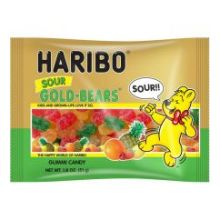 Gold Bears Sour Gummy Candy 1.8 Ounce
