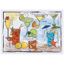 Cocktails Paper Placemat