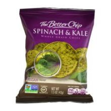 Spinach and Kale with Sea Salt Tortilla Chips