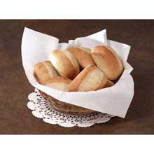 Flat Pack White Airlaid Basket Liner Napkin 16 x 16 inch