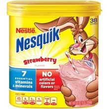 Nesquik Not Ready to Drink Strawberry Powder Beverage