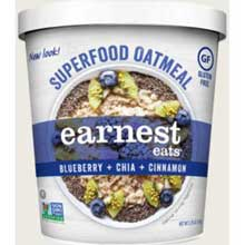 Hot and Fit Superfood Blueberry Chia Oatmeal Cup
