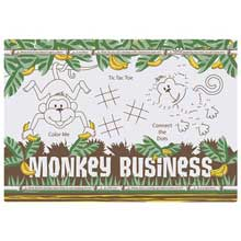 Two Sided Monkey Business Paper Activity Placemat