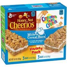 Variety Pack Cinnamon Toast Crunch Milk N Cereal Bar