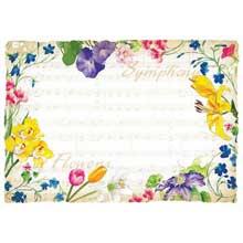 Symphony Flowers Paper Placemat